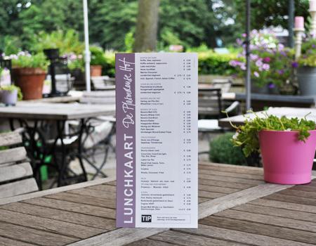Waterbestendige menukaarten - De Plasmolense Hof